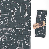 Tea Towel Mushroom in Peat by skinnylaminx on Etsy