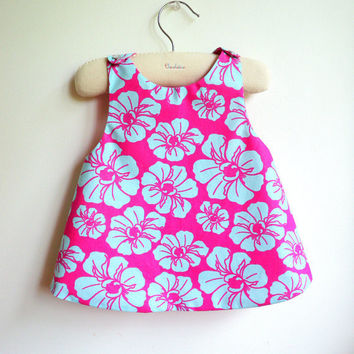 The Tahiti Reversible Pinafore top or dress - French Style - 6 months to 5Y