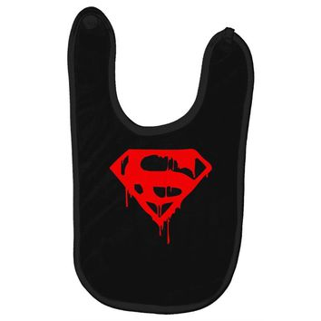 dripping blood superman Baby Bibs