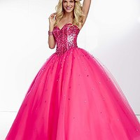 Strapless Ball Gown with Corset Bodice