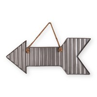 "Small Corrugated Arrow Wall Art - 26.25"" x 11.5"""