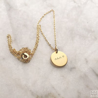 Gold Matte Coin Necklace