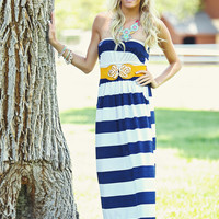 Be Straight with me Maxi Dress Navy