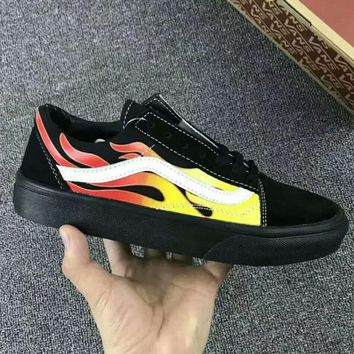 Vans Classics Flame Brothers Canvas Old Skool Flats Sneakers Sport Shoes G-JJ-MYZDL