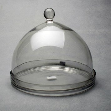TAG 750630 Large Glass Cheese Dome with Plate
