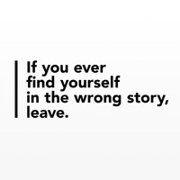 Wall decal quote: If you ever find yourself in the wrong story, leave  / Bookshelf Wall Vinyl Sticker / Wall Quote Home decor