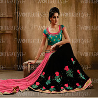 Green and Black Designer Saree