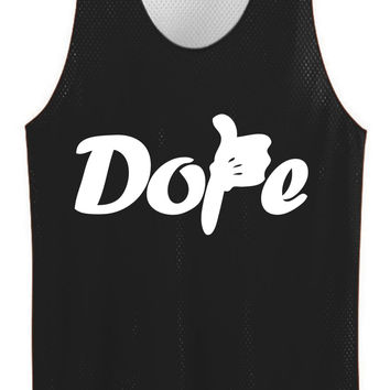 Dope thums up mesh jersey
