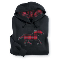 Red Horse Hoodie - Western Wear, Equestrian Inspired Clothing, Jewelry, Home Décor, Gifts