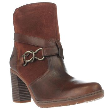 Timberland Dennett Western Buckle Ankle Boots, Brown, 6.5 US / 37.5 EU