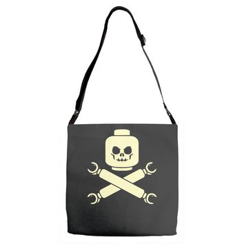 plastic block pirates Adjustable Strap Totes