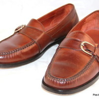COLE HAAN City Loafers Slip on Buckle Brown Womens Shoes Size 10 D