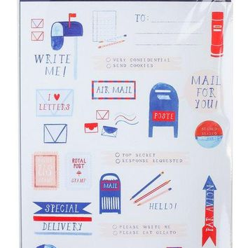 Airmail Sticker Sheet