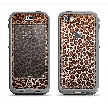 The Vibrant Cheetah Animal Print V3 Apple iPhone 5c LifeProof Nuud Case Skin Set