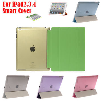 Ultra Slim Magnetic Smart Cover for Apple iPad 2 3 4 with Retina Display PU Leather Case for Apple ipad2 ipad3 ipad4