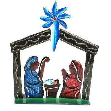 Standing Table Top Painted Nativity - Croix des Bouquets (H)