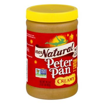 Peter Pan Natural Creamy Peanut Butter 16.3 oz - Walmart.com