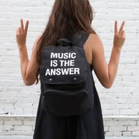 Music Is The Answer Backpack