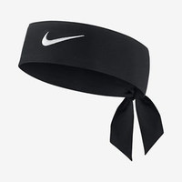 Nike Dri-Fit Head Tie 2.0 (One Size Fits Most, Black/White)