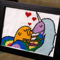 DIY Lady Rainicorn & Jake Cross stitch pattern