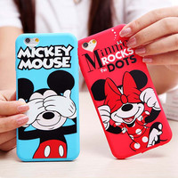 Hot Sale Cute 3D Cartoon Minnie Mouse Soft Lovely Phone Cases For Apple iphone6 6S 4.7' Back Cover For iphone 6 Case Capa Fundas