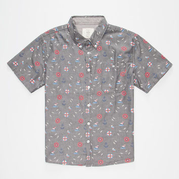 Artistry In Motion Out At Sea Boys Shirt Charcoal  In Sizes