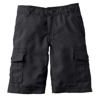 Tony Hawk Microfiber Solid Cargo Shorts - Boys
