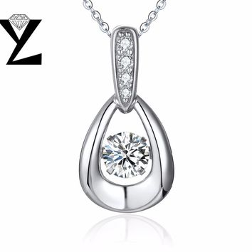 YL Topaz 925 Sterling Silver Jewelry Pendants Necklaces for Women Wedding Party with Natural Stone Fine Jewelry