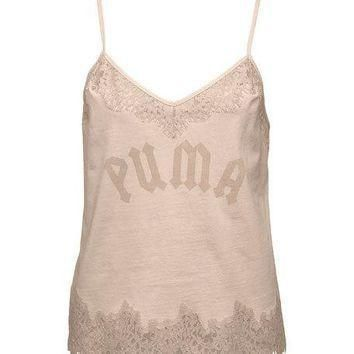 fenty puma by rihanna lace trim sleepwear camisole top pink  number 1