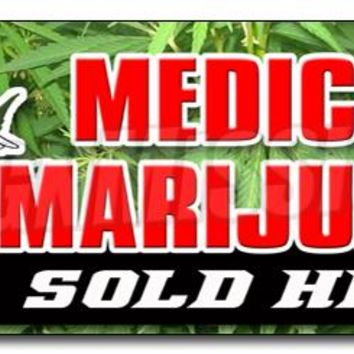 "36"" MEDICAL MARIJUANA FOR SALE DECAL sticker weed pot prescription coffee shop"