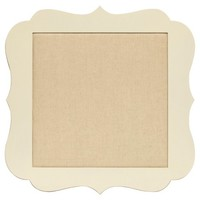Scalloped Bulletin Board - Cream 20x20