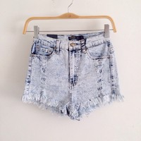 Bleached Angelic High Waist Shorts