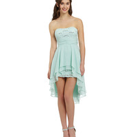 Hailey Logan Strapless Ruffled Hi-Low Dress | Dillards.com