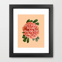 Fool For You Framed Art Print by Heart of Hearts Designs