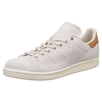 Adidas Stan Smith Off White Mens Lace Up Trainers Suede Leather