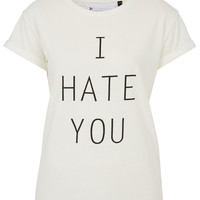 I Hate You Tee By Tee And Cake - Jersey Tops - Clothing - Topshop