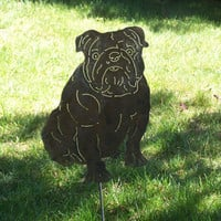 English Bulldog dog art metal sculpture great gift sculpture /  Bully pet memorial