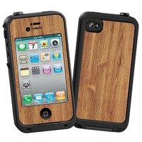 Brown Maple Skin  for the iPhone 4/4S Lifeproof Case by skinzy.com
