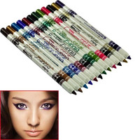 New 12 Lip Eyebrow Plastic Glitter Pencil Pen Cosmetic Makeup Set Kit Eyeliner  4914 = 1713301508