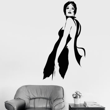 Vinyl Wall Decal Charleston Dancer Lady Sexy Girl Woman Stickers (635ig)