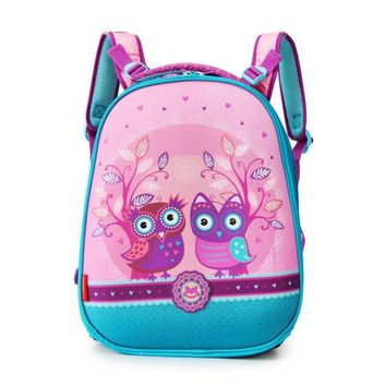 2017 New Design Children School Bags Cartoon Owl pattern Students Backpack Girls Lovely Animal Mochila Book Bag Grade 2-5