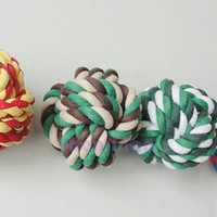 new fashion  hot sale CAMOUFLAGE DOG PUPPY PET COTTON BRAIDED CHEW KNOT TOY = 1930489476