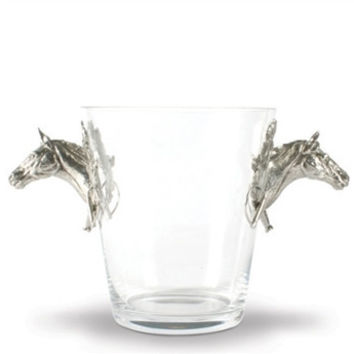 Vagabond House | Horse Handled Glass Ice Bucket