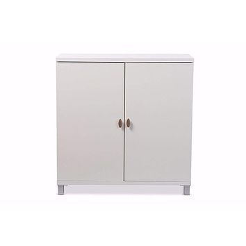White Wood Entryway Handbags Or School Bags Storage Sideboard Cabinet By Baxton Studio
