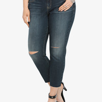 Torrid Frayed Stiletto Jean - Dark Wash with Destruction