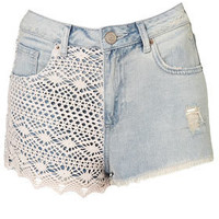 MOTO Bleach Crochet Hotpants