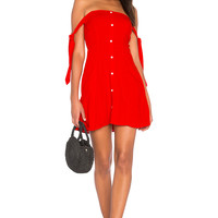Capulet Giulia Mini Dress in Cherry Red