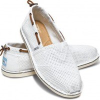 White Perforated Bimini Women's Stitchout | TOMS.com