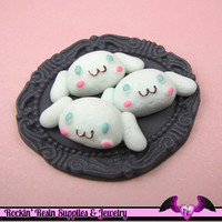 5 pcs Anime Cartoon Character Resin Decoden Flatback Kawaii Cabochon 29x12mm