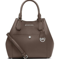 Michael Michael Kors Greenwich Large Saffiano Leather Satchel Bag